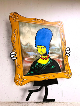 Nick Walker Mona Simpson Sérigraphie Street Art Galerie d'art en ligne