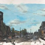 Charlelie Couture Street landscape Tirage pigmentaire Art contemporain