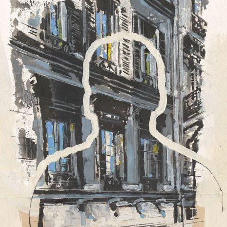 Charlelie Couture Silhouette Parisienne Tirage pigmentaire Art contemporain Galerie d'art en ligne