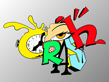 John Matos Crash Clock 2 Sérigraphie Street art Galerie d'art en ligne