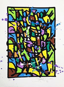 Jonone HPM 2018-1 Sérigraphie rehaussée Street art Galerie d'art en ligne