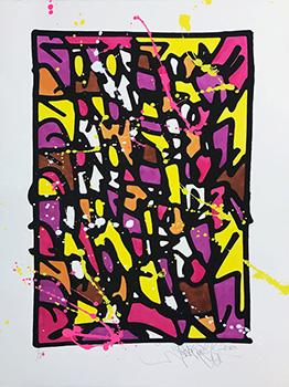 Jonone HPM 2018-1 2018 Sérigraphie rehaussée Street Art Galerie d'art en ligne