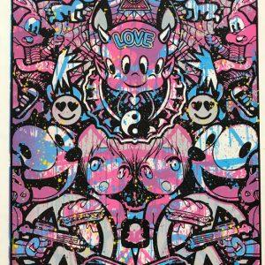 Speedy Graphito Urban Love HPM 10 Sérigraphie Street art Galerie d'art en ligne