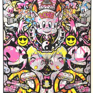 Speedy Graphito Urban Love HPM 11 Sérigraphie Street art Galerie d'art en ligne