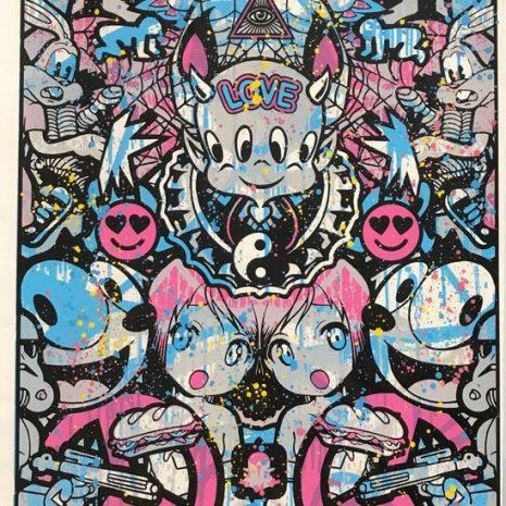 Speedy Graphito Sérigraphie Urban Love HPM Street Art Galerie d'art en ligne