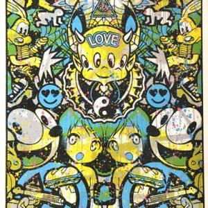 Speedy Graphito Urban Love HPM 14 Sérigraphie Street art Galerie d'art en ligne