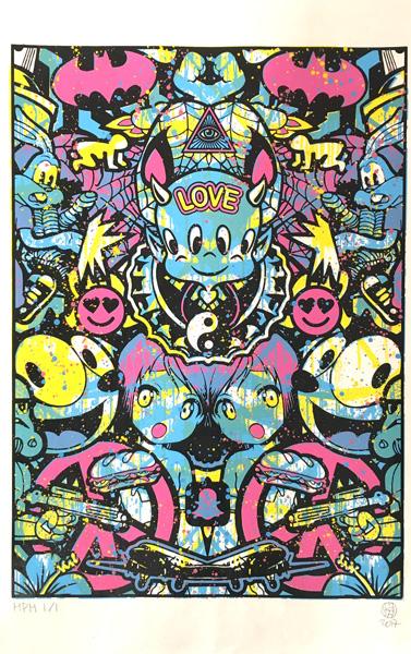 Speedy Graphito Urban Love HPM 15 Sérigraphie Street art Galerie d'art en ligne