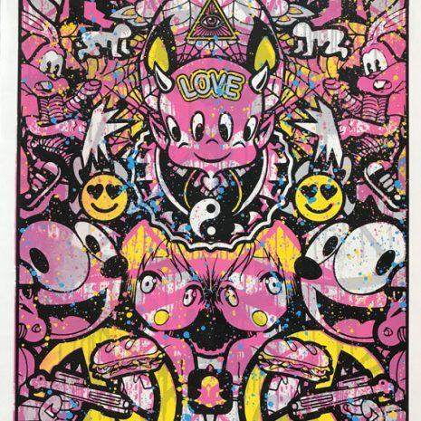 Speedy Graphito Urban Love HPM 20 Sérigraphie Street art Galerie d'art en ligne