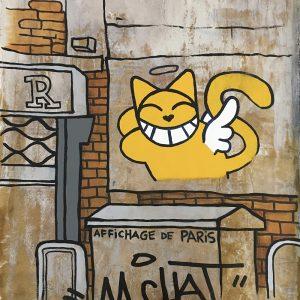 Thoma Vuille M.CHAT Affichage de Paris édition Street Art Galerie d'art en ligne