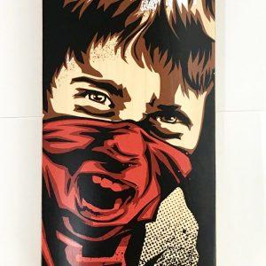 RNST Sérigraphie sur skateboard #INENCADRABLE Sérigraphie street art Galerie d'art en ligne