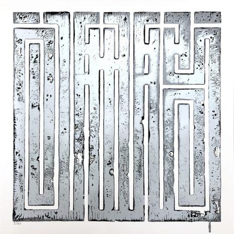 L'Atlas Silkscreen street art Just an onther seal Silver Edition Limited Art Gallery Online