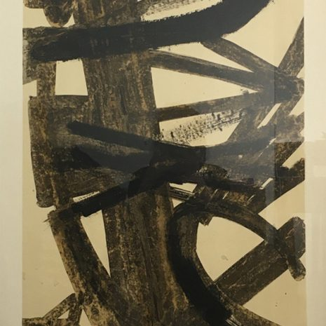 Pierre Soulages Lithography Untitled Contemporary Art Gallery Online