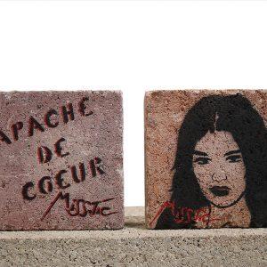 Miss Tic Pavé Apache de coeur Street art Galerie d'art en ligne