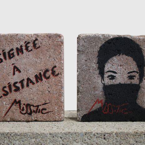 Miss Tic Pavé street art Assignée à résistance Online art gallery