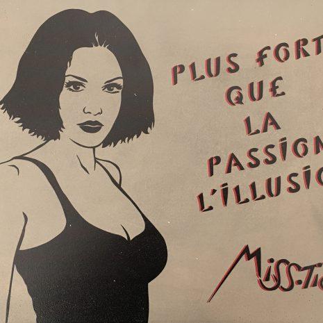 Miss Tic Édition sur béton Édition limitée Street Art Galerie d'art en ligne