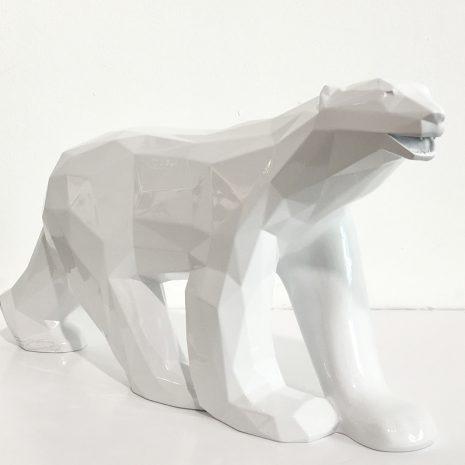 Orlinski Association François Pompon Ours Blanc Le choc des Titans Edition limitée Sculpture Galerie d'art en ligne