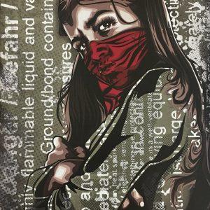 RNST La fille du printemps Edition limitée sur béton Street art Galerie d'art en ligne