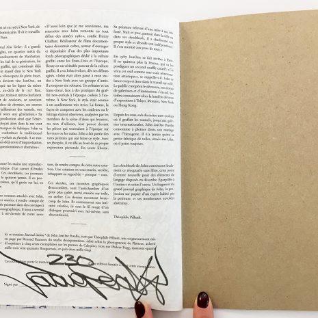 Jonone Journal intime 1 Signature Livre street art Edition limitée Galerie d'art en ligne