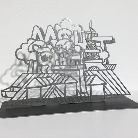 M.Chat Sculpture Paris Nuages Edition limitée Street Art Galerie d'art en ligne