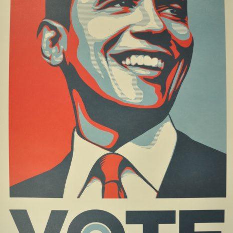 Shepard Fairey Obey Giant Vote Obama Sérigraphie Street Art Galerie d'art en ligne