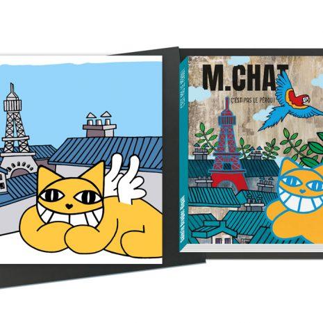 M.CHAT Coffret de luxe Sérigraphie Catalogue d'exposition Edition limitée Street art Galerie d'art en ligne