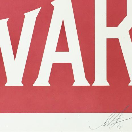 Obey Sérigraphie Make Art Not War Signature Street art Galerie d'art en ligne