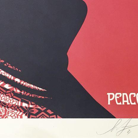 Shepard Fairey Obey Peace Sérigraphie Signature Galerie d'art en ligne