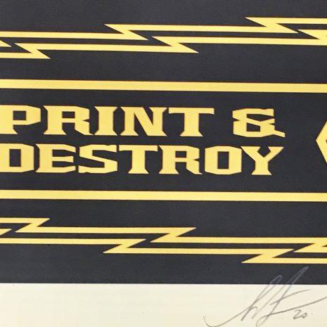 Obey Propaganda Sérigraphie Signature Street art Galerie d'art en ligne
