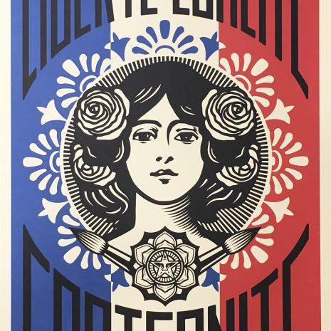 Shepard Fairey Obey Liberté Egalité Fraternité Sérigraphie Street Art Galerie d'art en ligne