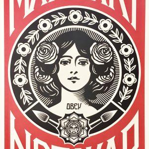 Shepard Fairey Obey Make art not war Sérigraphie Street art Galerie d'art en ligne