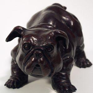Pradel-Fraysse Art contemporain Sculpture Baby Bull Dog Galerie d'art en ligne