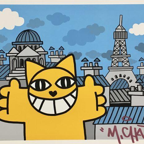 M.CHAT Sérigraphie Street Art Edition limitée Galerie d'art en ligne