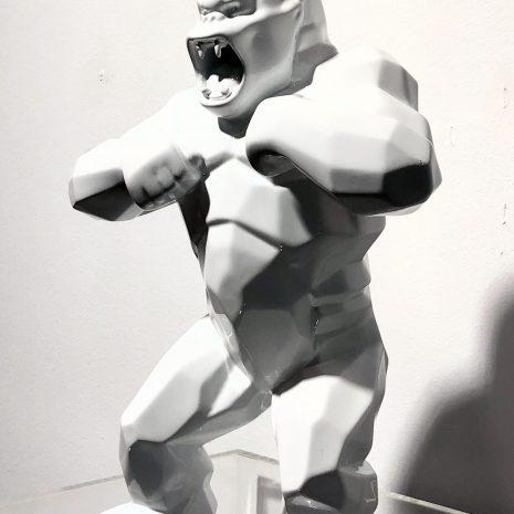 Orlinski Kong blanc Art contemporain Sculpture résine Galerie d'art en ligne