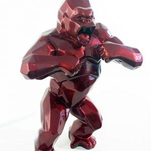 Orlinski Kong rouge Sculpture résine Street art Pop art Galerie d'art en ligne