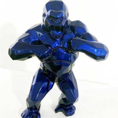 Orlinski Kong bleu Sculpture résine Art contemporain Pop art Galerie d'art en ligne