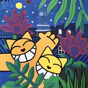 M.CHAT Edition limitée Rousseau by night edition Street art Galerie d'art en ligne
